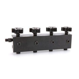 Hidraulikus Elosztótömb 4 kimenettel és visszafolyó ággal (MF4RCT)