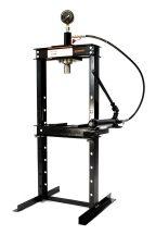 Hidraulikus műhelyprés kézi hajtású tápegységgel, nyomásmérő órával 12 Tonna (SP12-2)