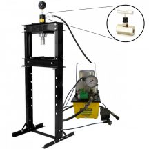 20T Hidraulikus műhelyprés, elektromos tápegységgel, mérőórával, sebességállító szeleppel (SP20-1E)