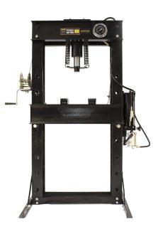 Hidraulikus műhelyprés sűrített levegőhajtású tápegységgel, nyomásmérő órával 40 Tonna (SP40A)