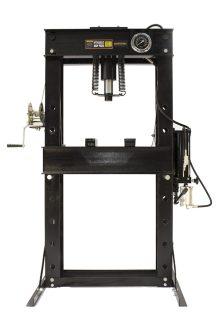 Hidraulikus műhelyprés sűrített levegőhajtású tápegységgel, nyomásmérő órával 50 Tonna (SP50A)
