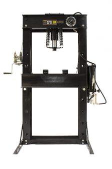 Hidraulikus műhelyprés, levegőhajtású tápegységgel, nyomásmérő órával 50Tonna (SP50A)