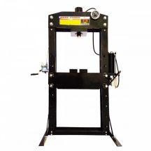 Hidraulikus műhelyprés, levegőhajtású tápegységgel, nyomásmérő órával 75Tonna (SP75A)