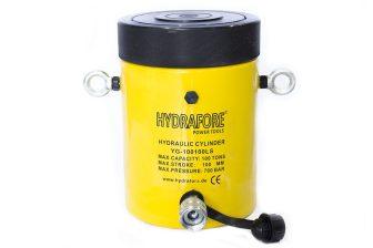 Egyszeres működésű biztosítóanyás hidraulikus munkahenger (100T, 100mm) (YG-100100LS)