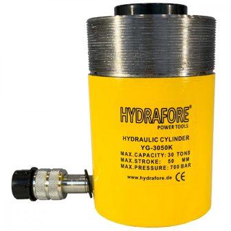 Egyszeres működésű üreges, gallérmenetes hidraulikus munkahenger (30T, 50mm) (YG-3050KCT)
