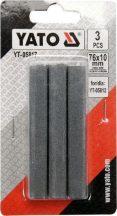 Cserélhető pofa hónolóhoz 76x10 mm (3db) (YT-05817)