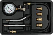 Kompresszió és vákum mérő készlet, benzines, 8részes, 0-20bar (YATO YT-73022)