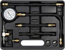 Üzemanyag nyomásmérő szett, benzines, 9 részes, 0,7bar-ig (YATO YT-73024)