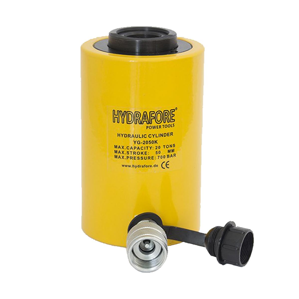 Egyszeres működésű üreges hidraulikus munkahenger (20T, 50mm) (YG-2050K)